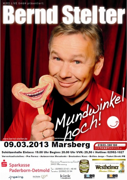 9. März 2013 – Bernd Stelter – Mundwinkel hoch!