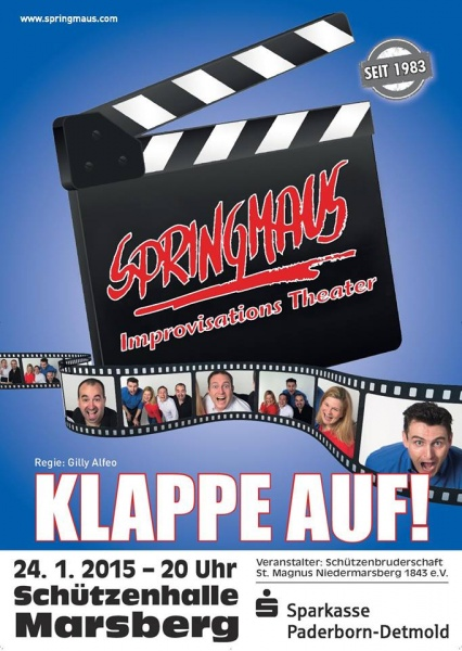 24. Januar 2015 – Springmaus Improvisationstheater – Klappe Auf!