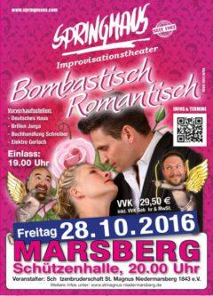 28. Oktober 2016 – Springmaus Improvisationstheater – Bombastisch Romantisch!