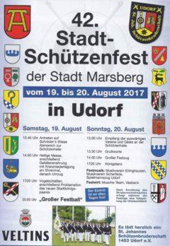 Stadtschützenfest vom 19. bis 20. August 2017 in Udorf