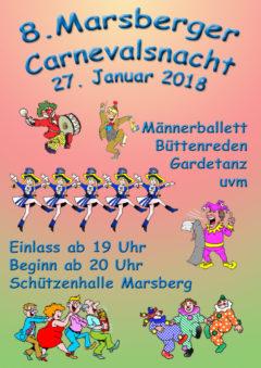 Marsberger Carnevalsnacht am 27. Januar im Josefskeller
