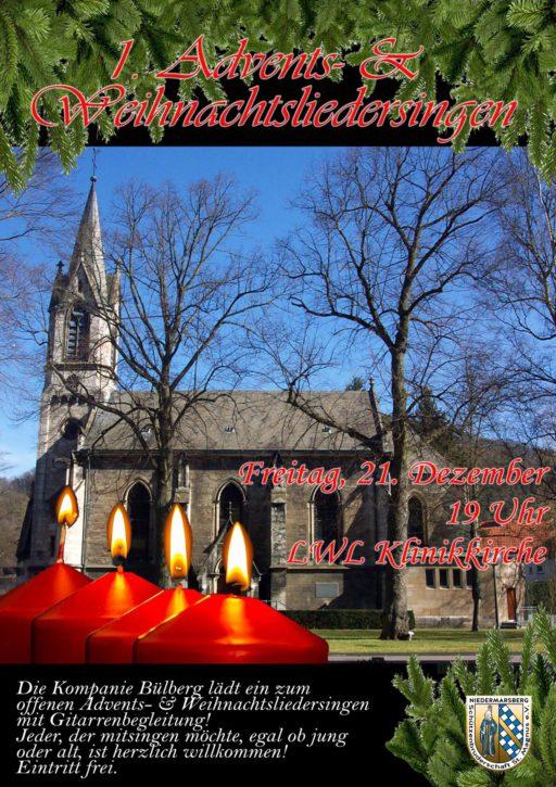 1. Marsberger Advents- und Weihnachtsliedersingen