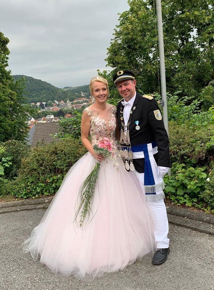 Königspaar 2019/20 Oliver Rehfeldt und Corinna Rosenkranz (Schützenbruderschaft St. Magnus Niedermarsberg 1843 e.V.)